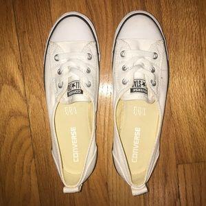 White converse flats size:7